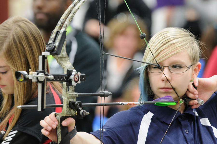 Archery Shooter competing at BC Winter Games